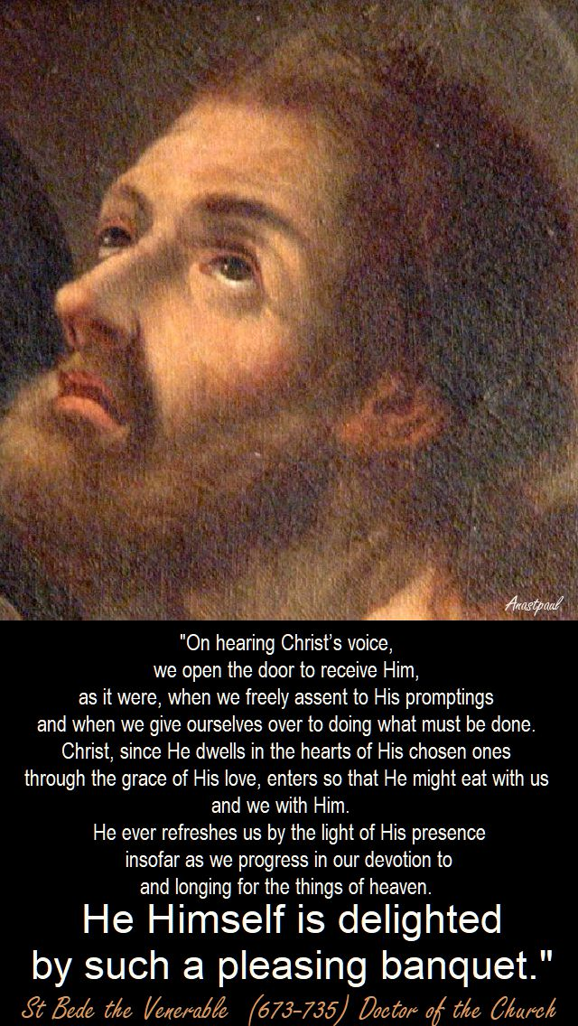 on hearing christ's voice - st bede the venerable - 21 sept 2017