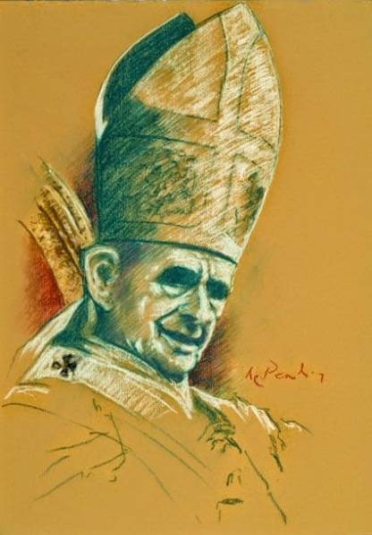 portrait drawing of paul vi