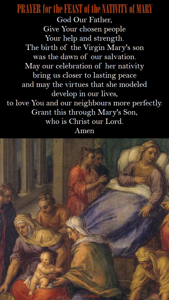 prayer for the feast of the nativity of mary
