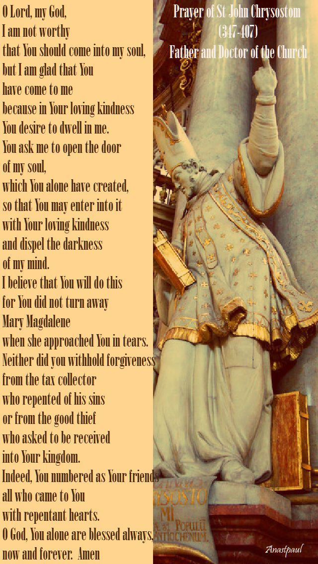 prayer of st john chrysostom