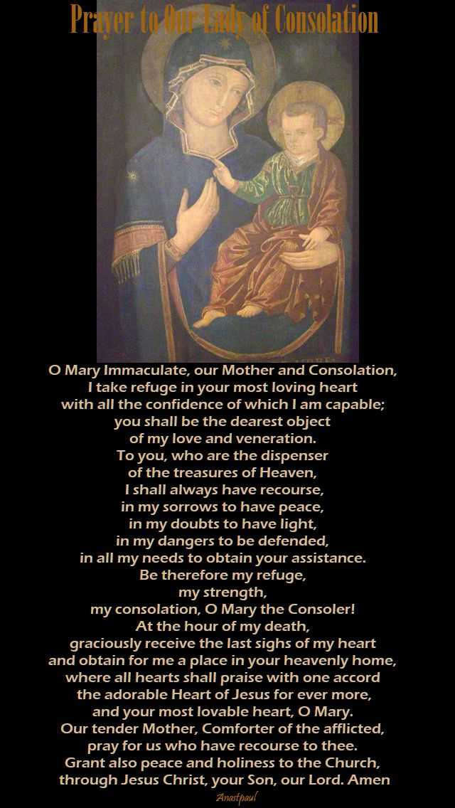 prayer to our lady of consolation no 2