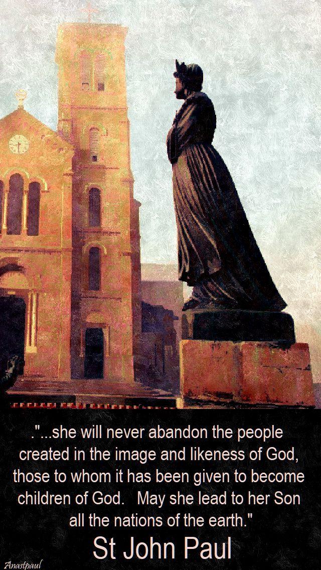 she will never abandon - st john paul - la salette - 19 sept 2017