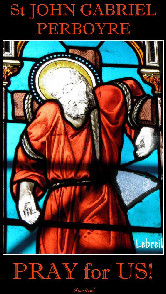 st john gabriel perboyre - pray for us