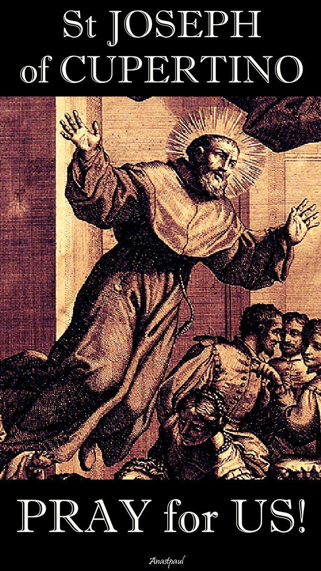 st joseph of cupertino pray for us