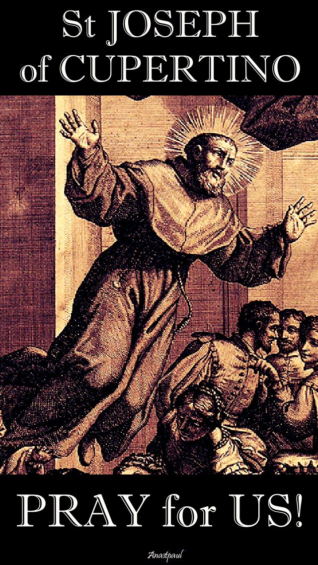 st joseph of cupertino pray for us