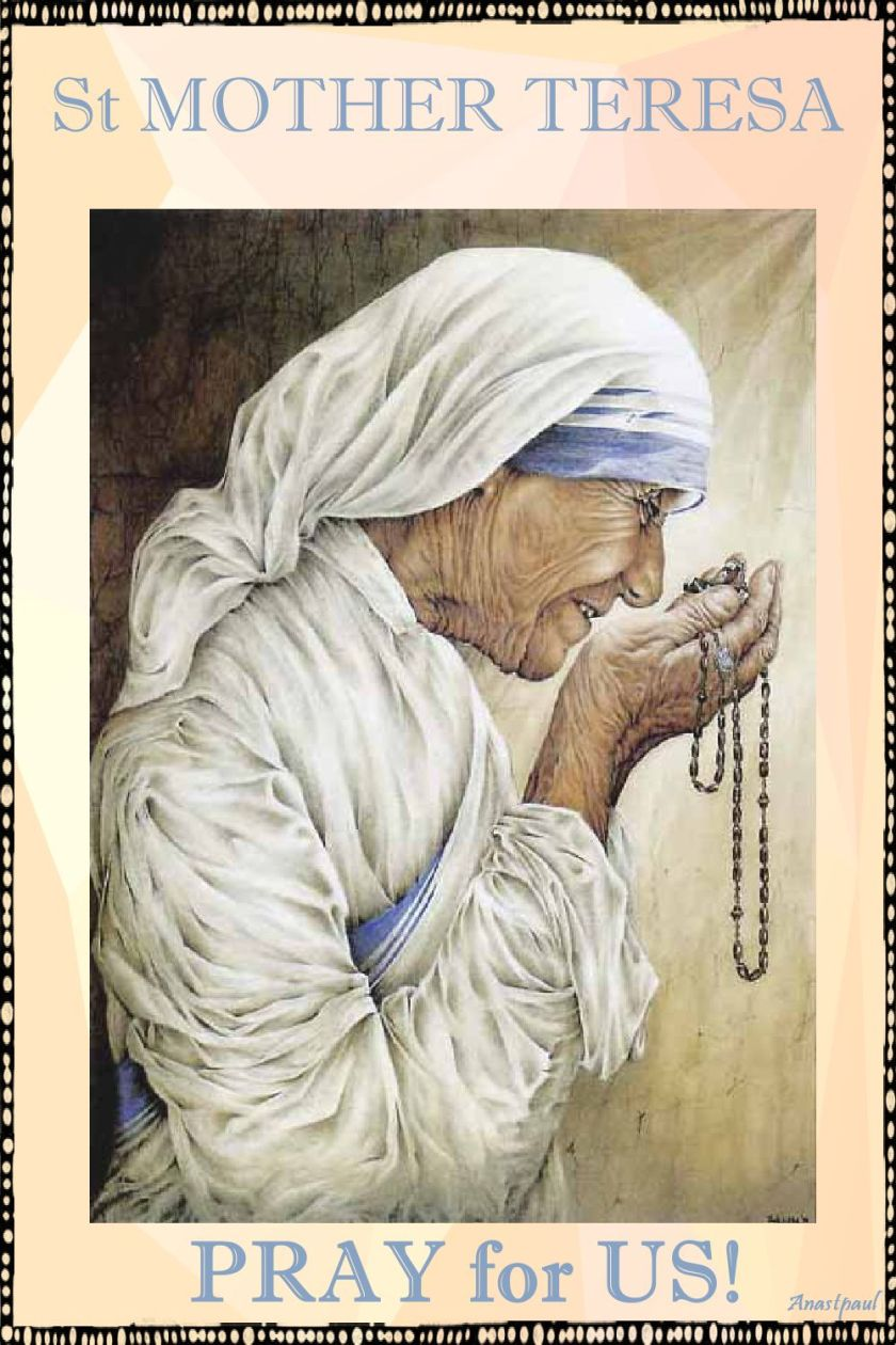 st mother teresa - pray for us