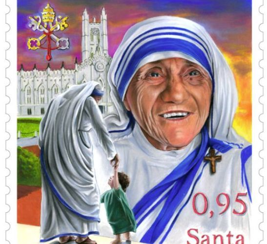 St Mother Teresa - stamp released for her Canonisation 4 Sept 2016