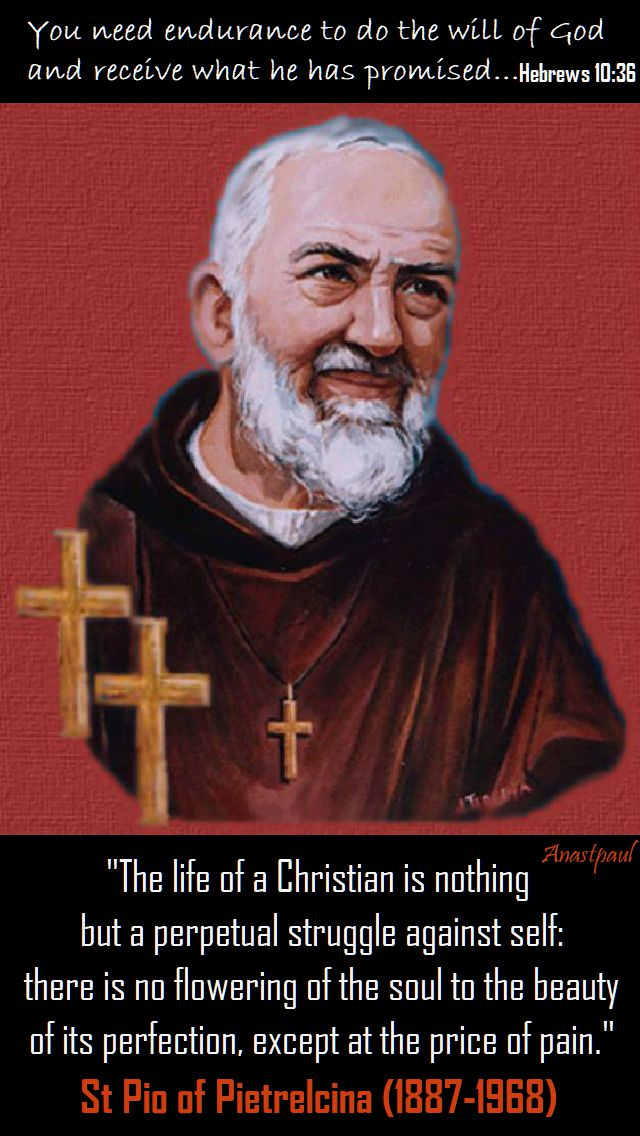 the life of a christian - st pio - 23 sept 2017
