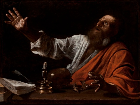 THE VISION OF SAINT JEROME, Follower of Caravaggio