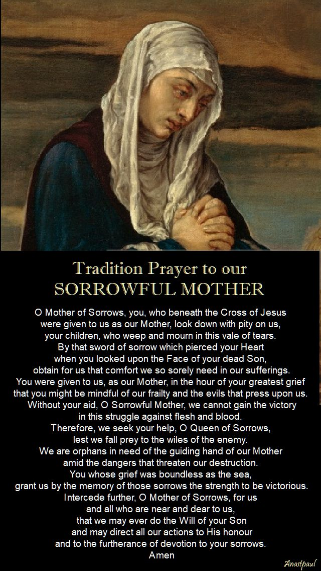 traditional prayer to our sorrowful mother