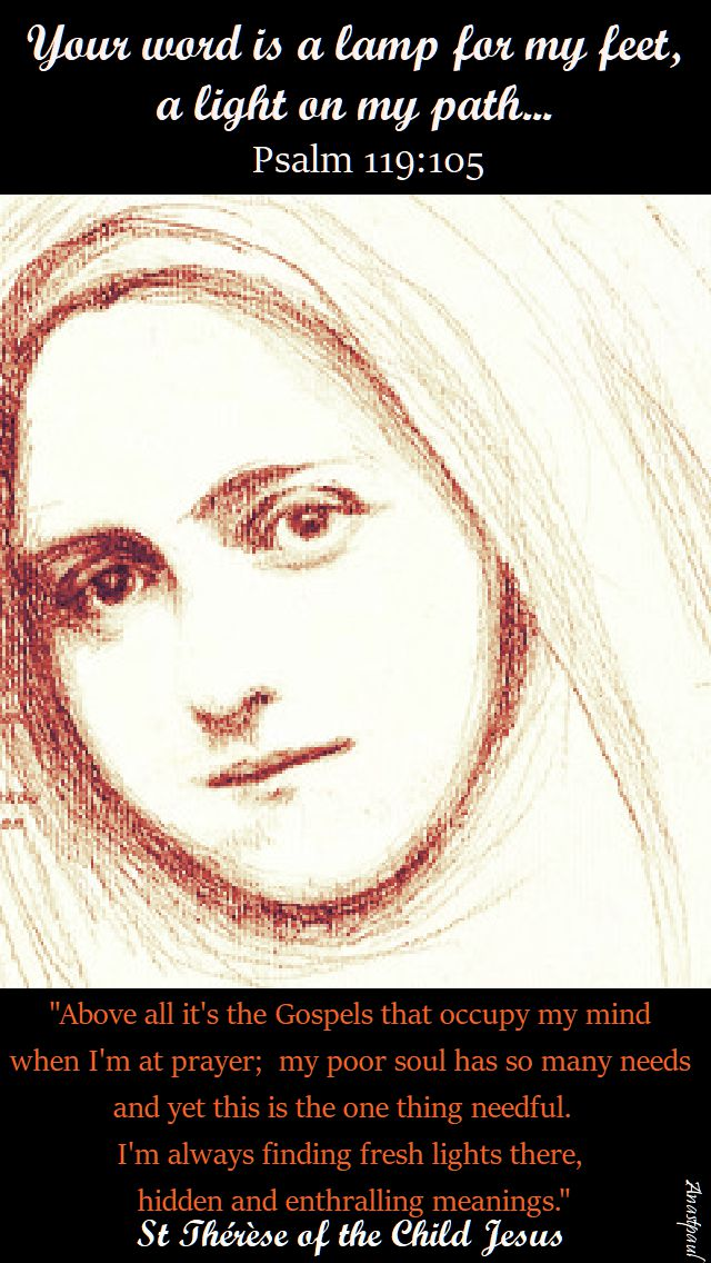 above all it's the gospels = st therese of the chld jesus - 1 oct 2017