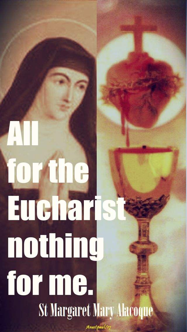 all for the eucharist - st m m - 16 oct 2017
