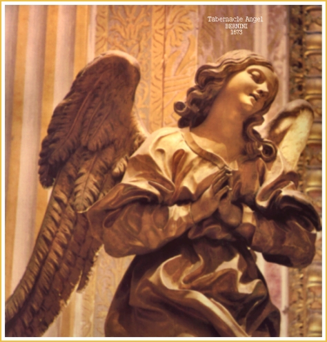 Bernini's Tabernacle Angel detail