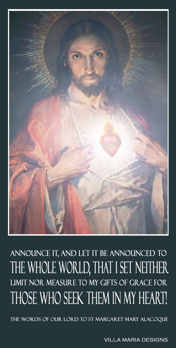 announce it and let it be announced - st margaret mary