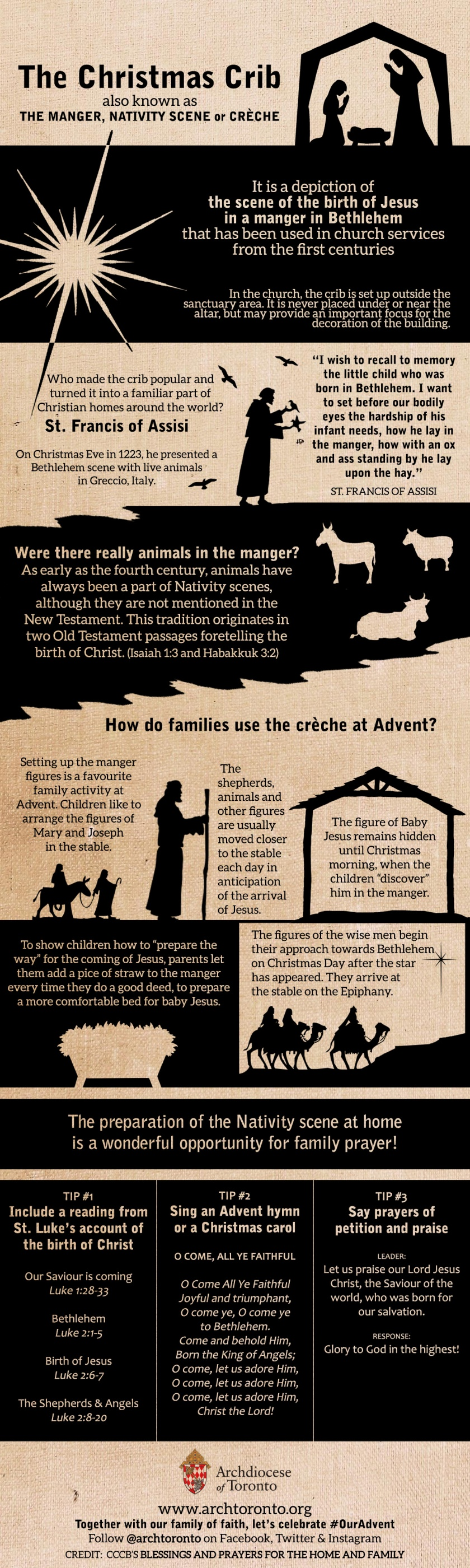 B. st francis and the crib info