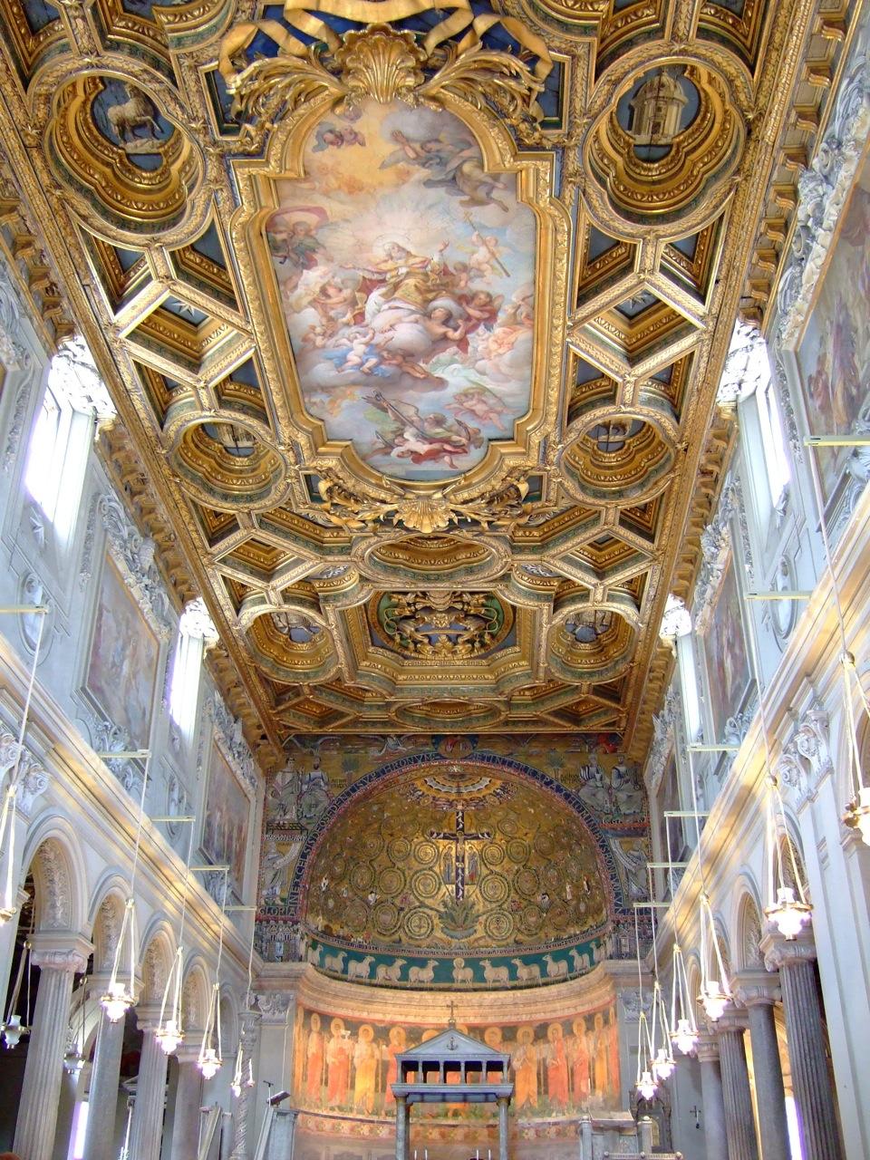 basilica-san-clemente-ceiling