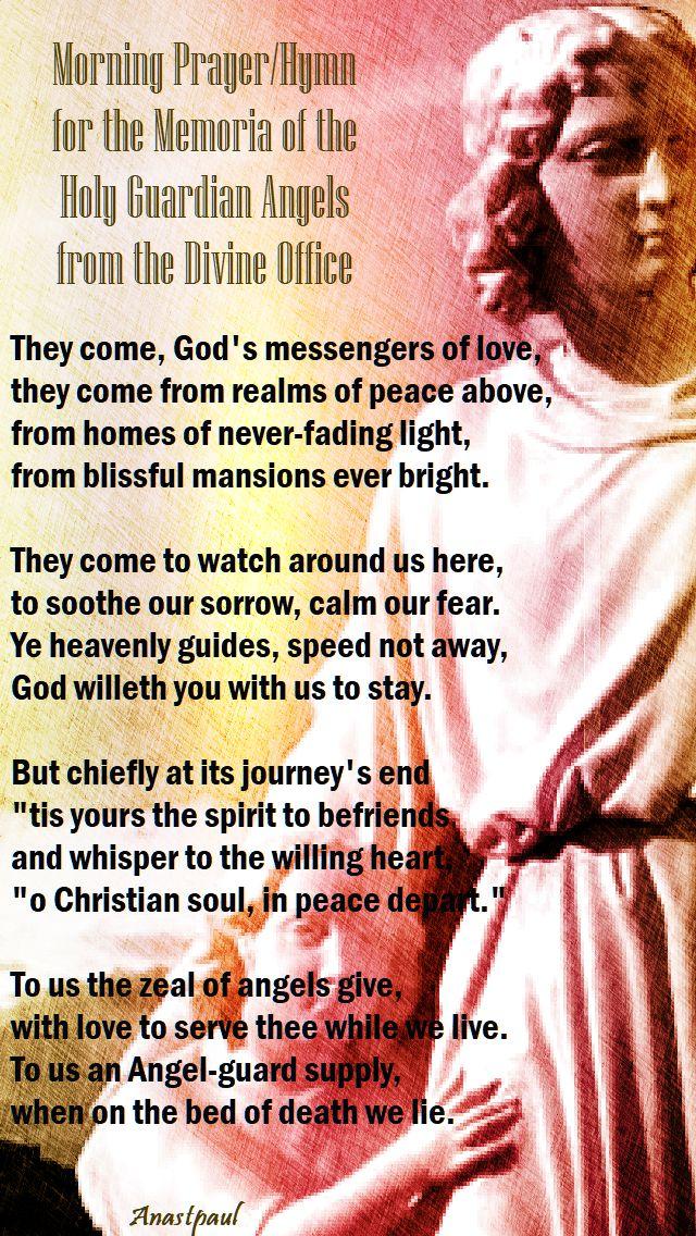 breviary morning prayer - guardian angels 2 oct