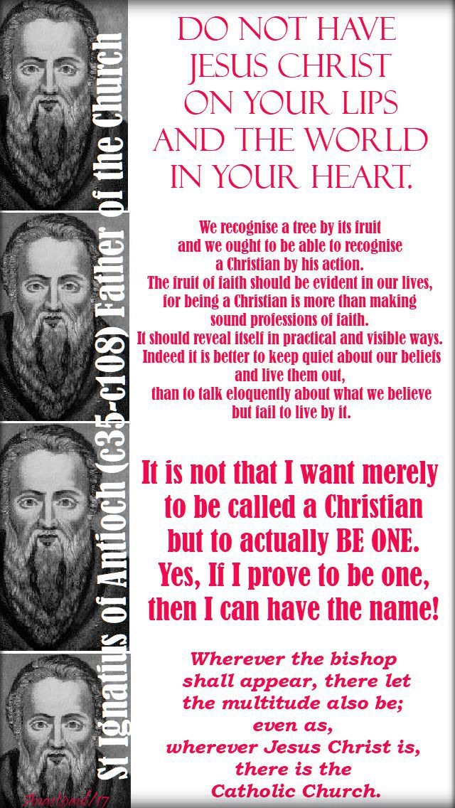 do not have - st ignatius of antioch - 17 oct 2017