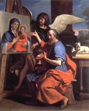 Guercino's Saint Luke Displaying a Painting of the Virgin c.1652