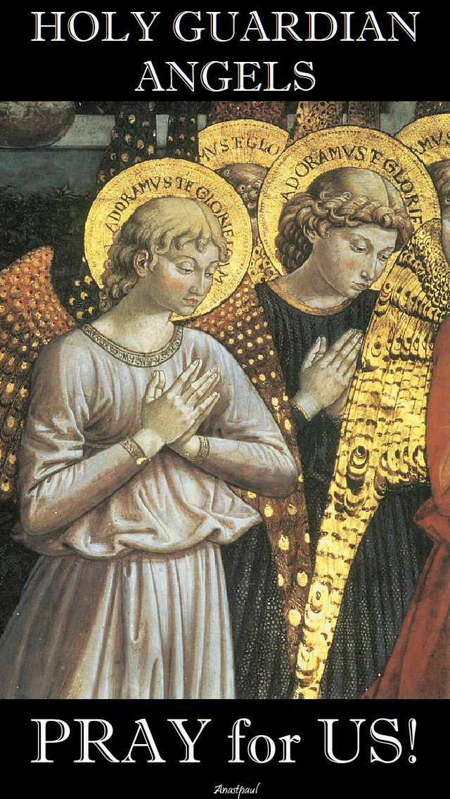 holy guardian angels - pray for us