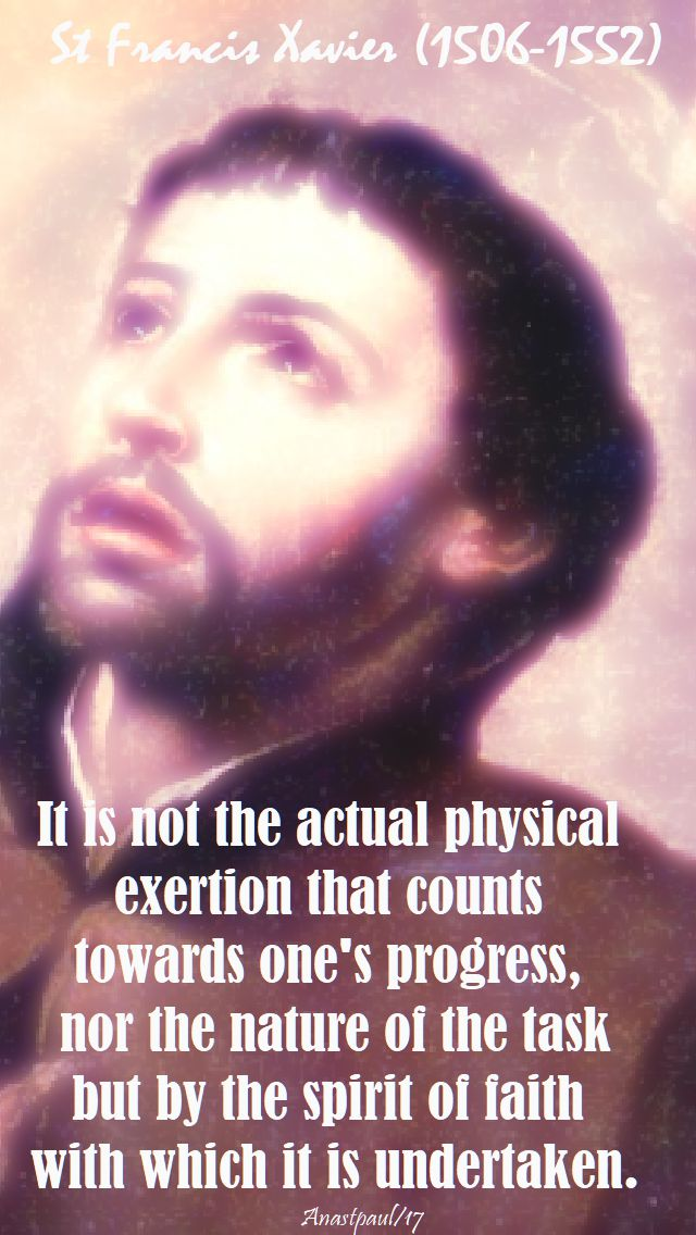 it is not - st francis xavier - 21 oct 2017