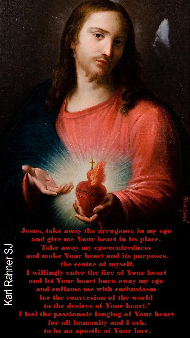 jesus, take away - karl rahner - 8 oct 2917
