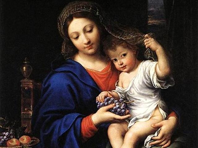 mary and jesus with raisins