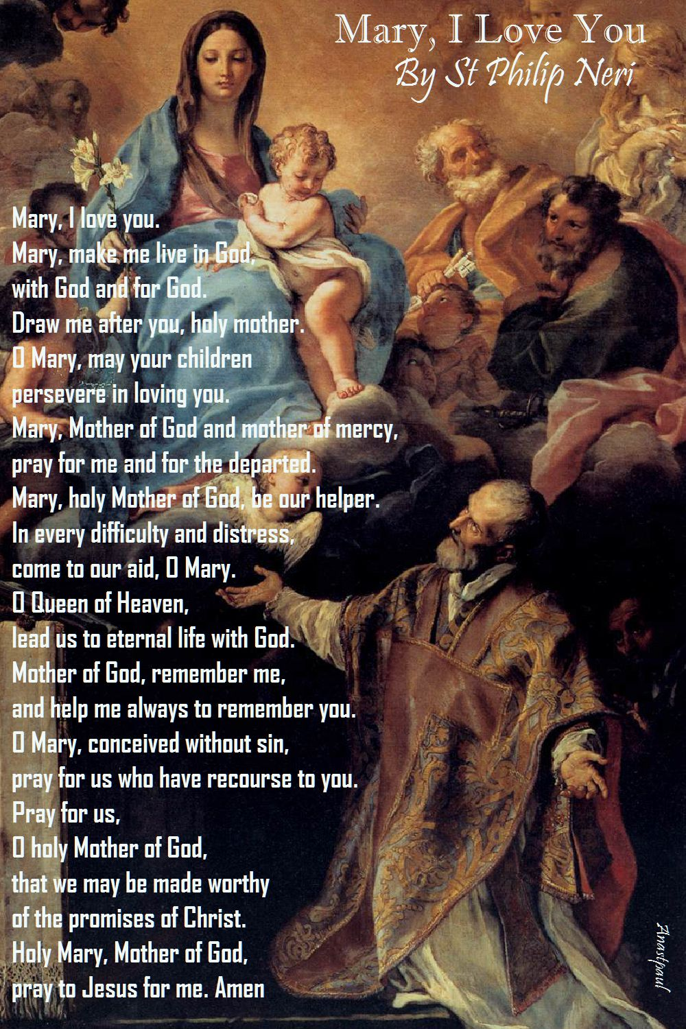 mary i love you - st philip neri