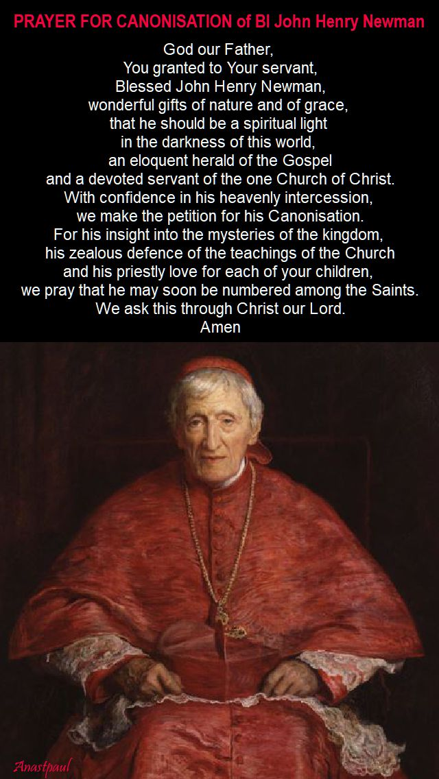 pray for the canonisation - bl john henry - 9 oct 2017