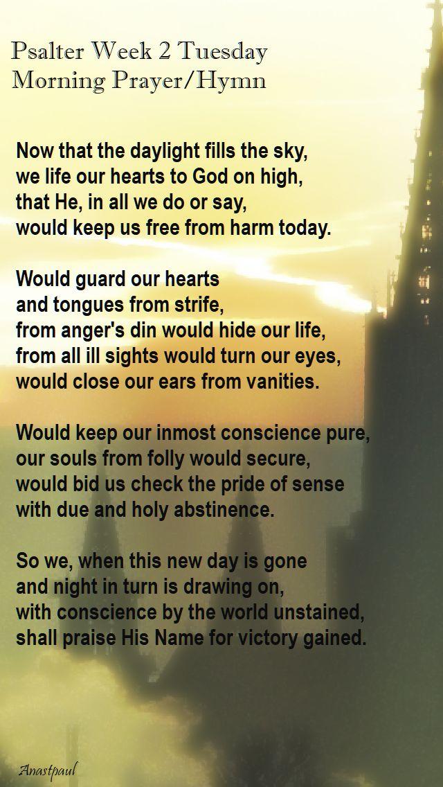 psalter week 2 tuesday - morning prayer hymn - 3 oct 2017