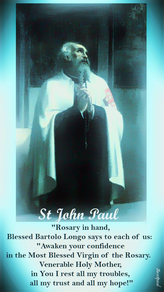 rosary in hand - st john paul - 5 oct 2017