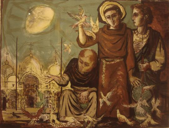 St. Francis – The Piazza; 1953; Benton Spruance (1904 -1967)