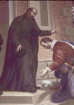 St. Ignatius Loyola receiving St. Francis Borgia