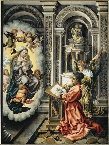 St Luke Painting the Madonna, by Jan Mabuse (1520-1525)