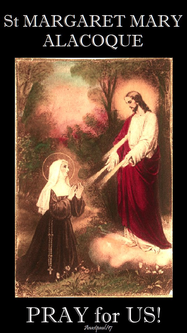 st margaret mary - pray for us