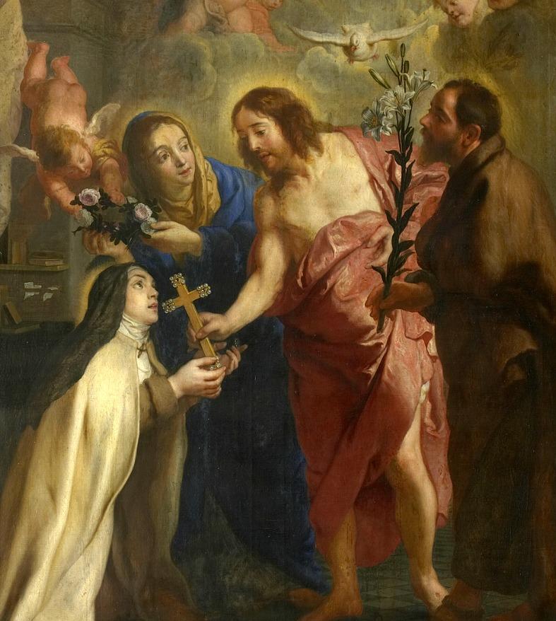 st teresa avila Gaspar_de_Crayer_-_The_vision_of_St_Theresa_of_Avila
