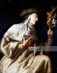 st teresa before the cross