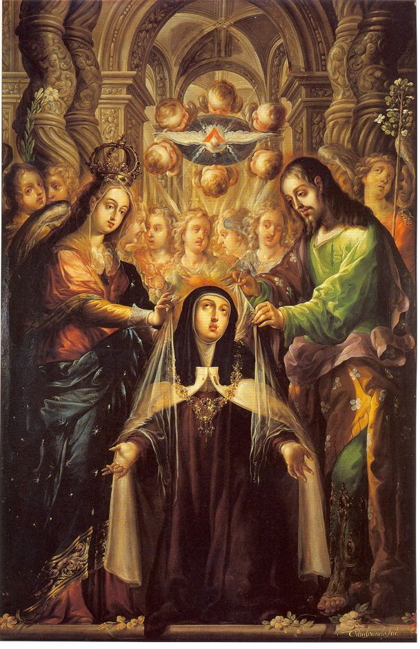 St. Teresa of Avila Receives the Veil and Necklace from the Virgin and