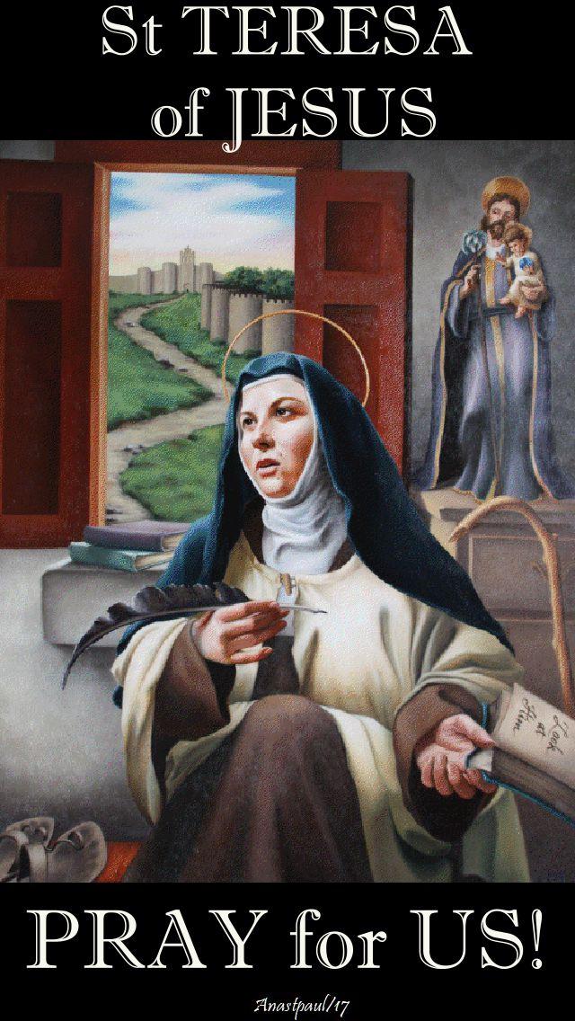 st teresa of jesus- pray for us 2