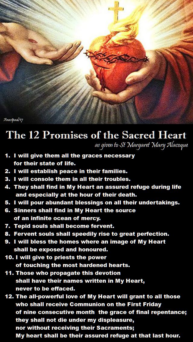 the 12 promises of the sacred heart - 16 oct 2017