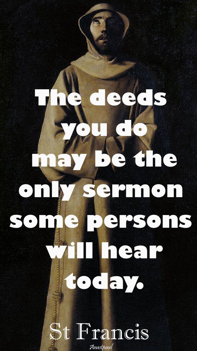 the deeds you do - 4 oct 2017