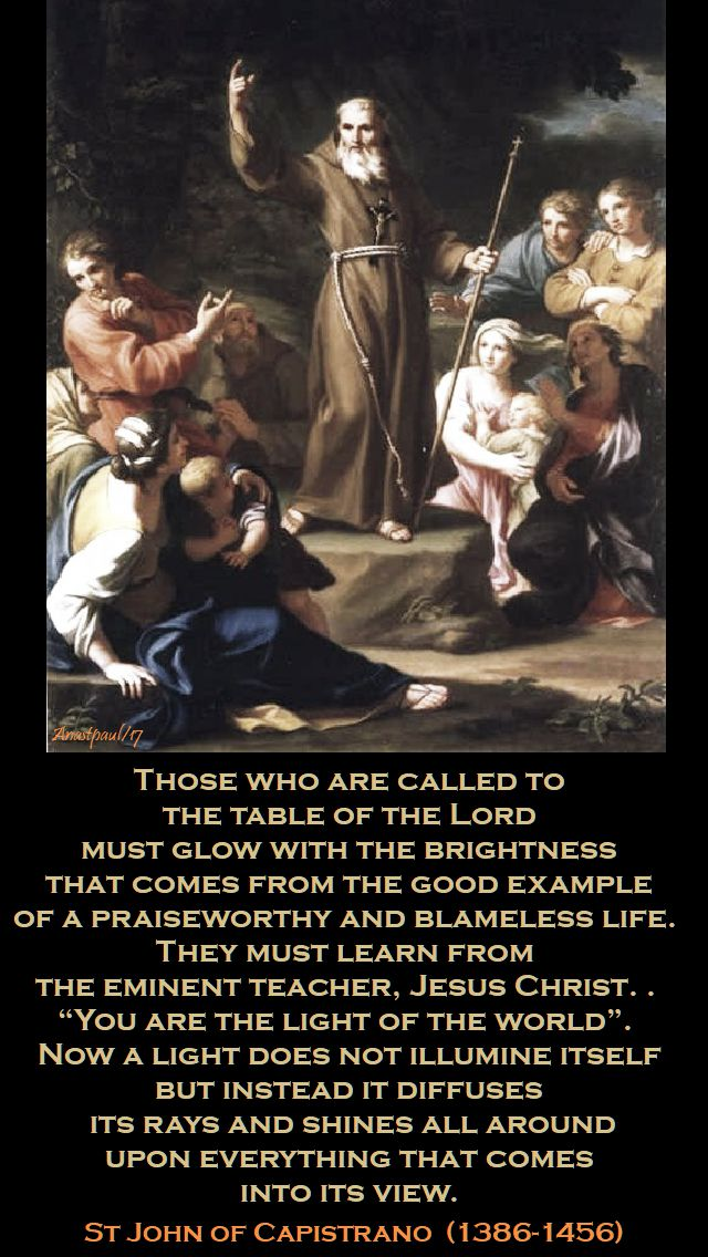 those who are called - st john of capistrano - 23 oct 2017