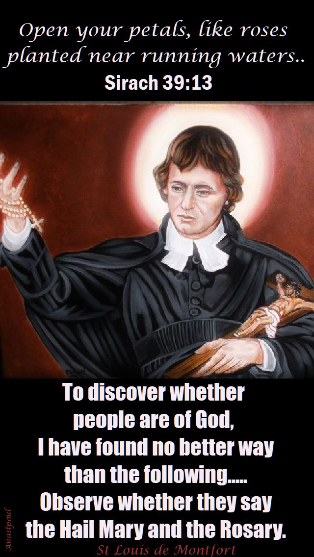 to discover whether people - st louis de montfort 2017