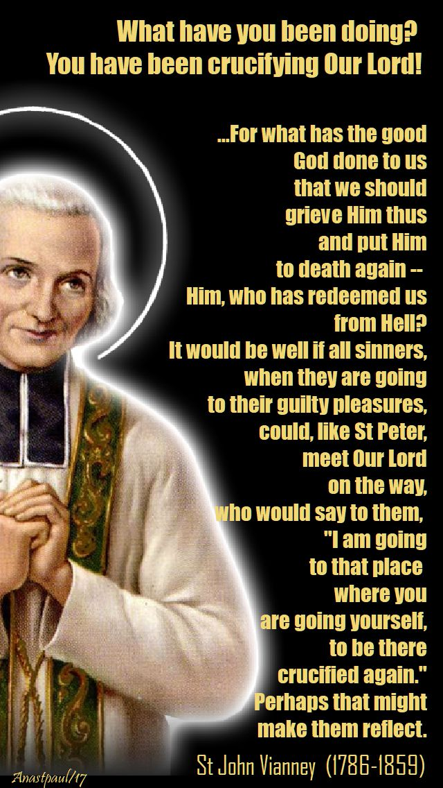 what have you been doing - st john vianney - 25 oct 2017