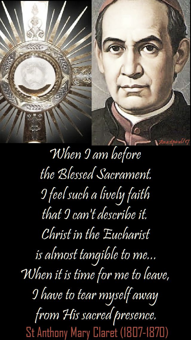 when I am before - st anthony mary claret - 24 oct 2017