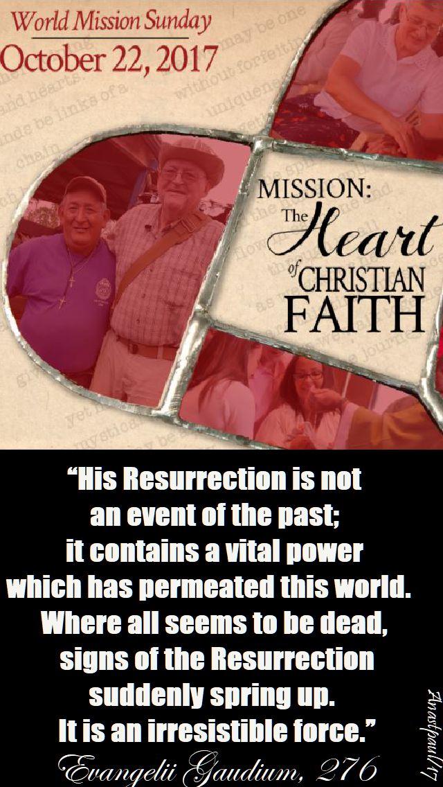 WORLD MISSION SUNDAY 22 OCT 2017