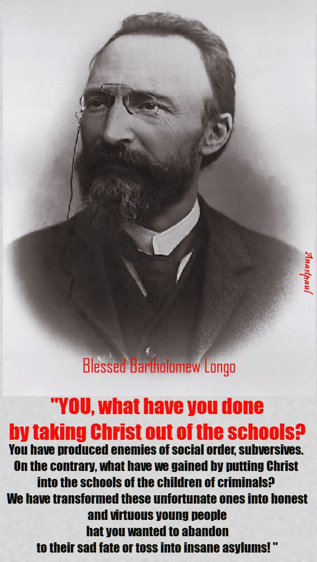 YOU WHAT HAVE YOU DONE - bl bartholomew longo - 5 oct 2017