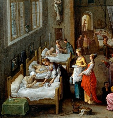 577px-St_Elizabeth_visiting_a_hospital._Wellcome_V0017201