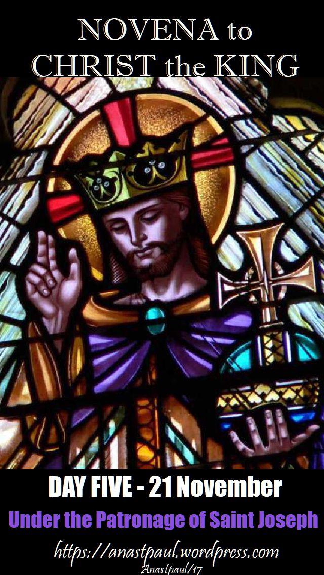 DAY FIVE NOVENA CHRIST THE KING - 21 NOVEMBER