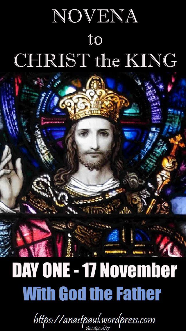 day one novena christ the king - 17 nov 2017